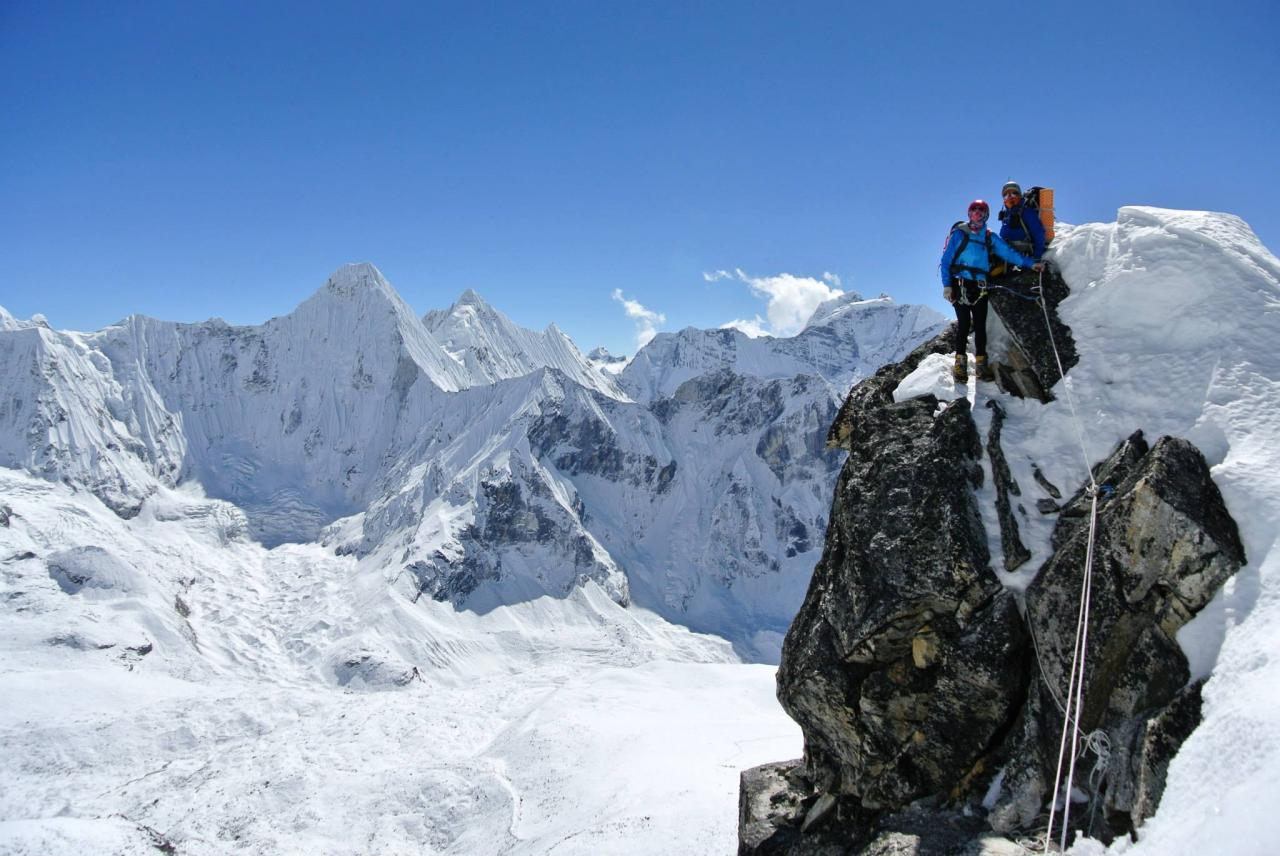 A picture from Ama Dablam by Greg Lamarche
