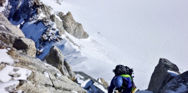 A picture from Aiguille du Tour, Arete de la Table by Jeremy Saadi