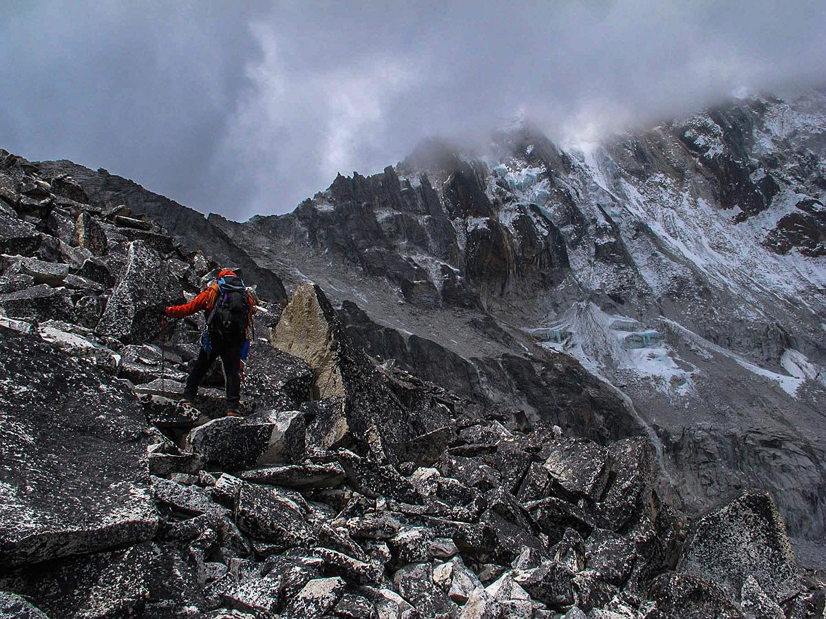 A picture from Ama Dablam by chris vultaggio