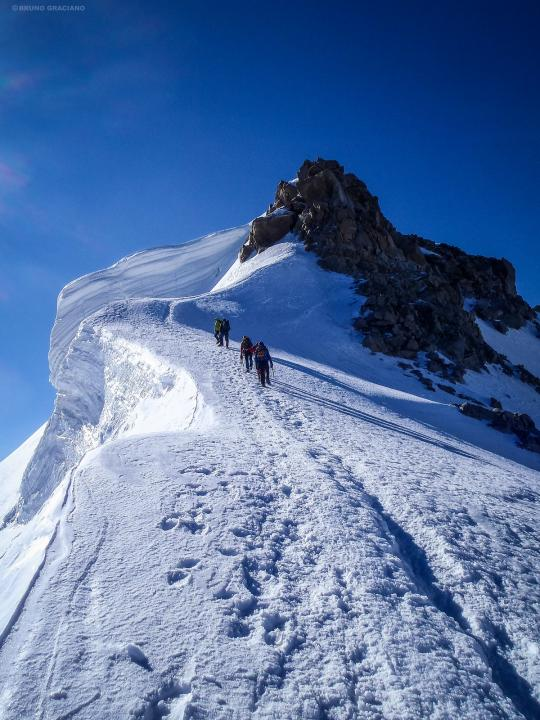 A picture from Mont Blanc du Tacul by Bruno Graciano