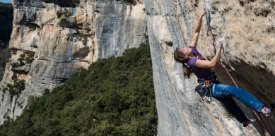 A picture from Buoux by Mammut