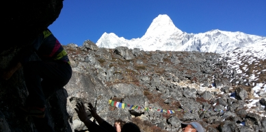 A picture from Ama Dablam by Vinayak Jaya