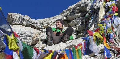 A picture from Everest Region by Michaela Huemer