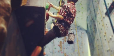 A picture from Newcastle Climbing Centre by Ivan Cairns