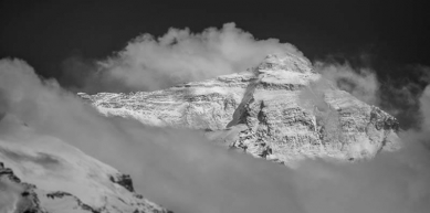 A picture from Mount Everest by Black Diamond