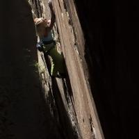 Black Corridor, Red Rocks by Edelrid