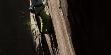 A picture from Black Corridor, Red Rocks by Edelrid