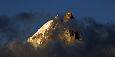 A picture from Aiguille du Dru by Björn Pohl