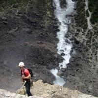 Rappelling Takakkaw Falls by Jon McDermid
