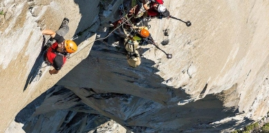 A picture from El Capitan by Mammut