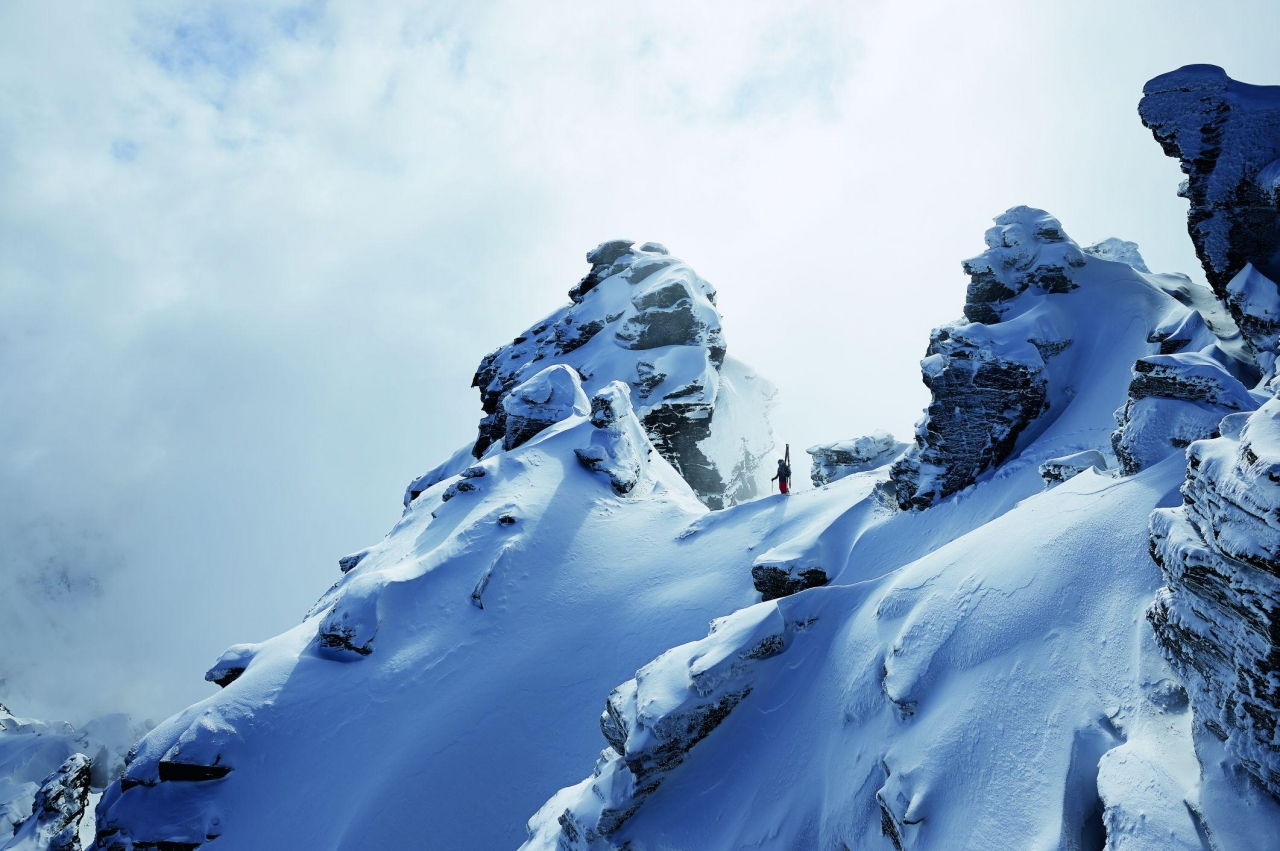 A picture from Tasman Glacier by Mammut