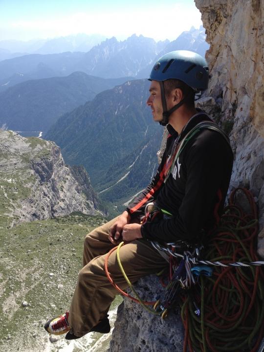 A picture from Spigolo Giallo Route, Tre Cime di Lavaredo  by Selim Özkul