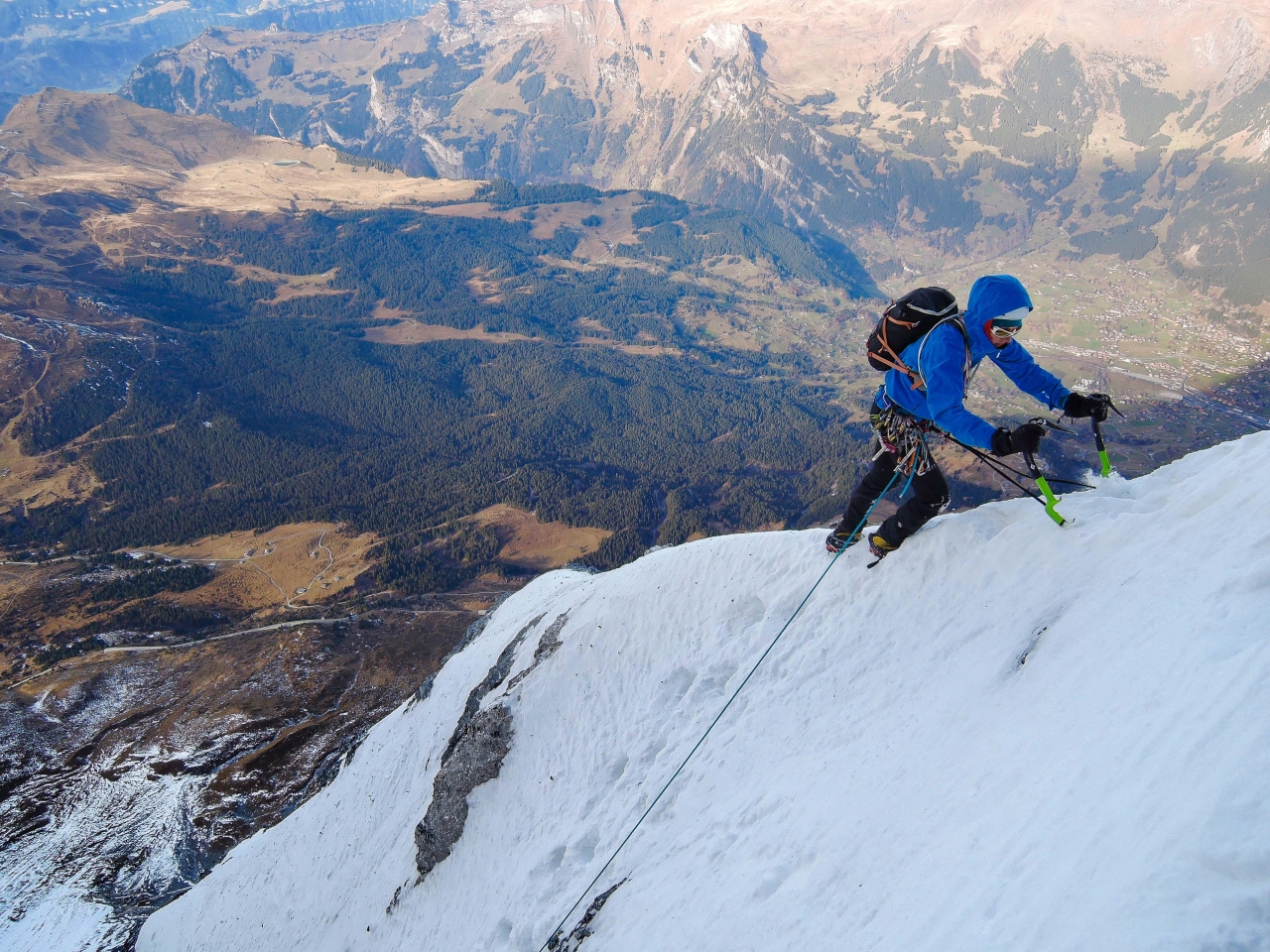 A picture from Eiger by Morgan Baduel