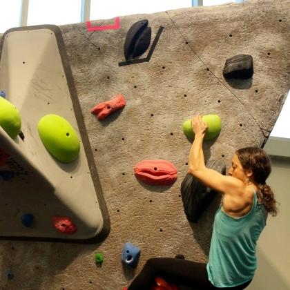Purdue Rec Sports - Climbing Wall by Theresa D'Aquila