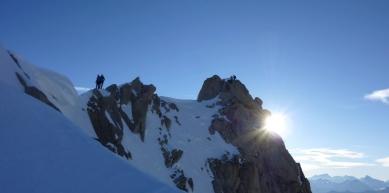 A picture from Aiguille du Chardonnet by Deborah Bionaz