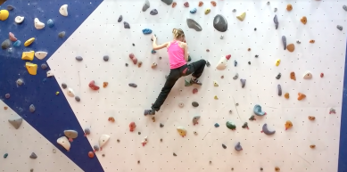 A picture from Olympia climbing gym by Linde Boelen