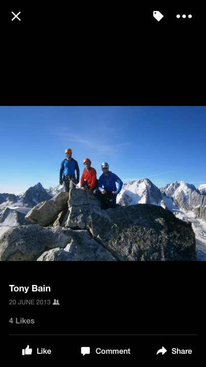 A picture from Mont Blanc du Tacul by Tony Bain