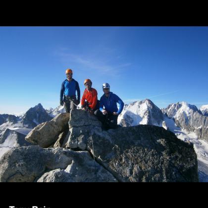 Mont Blanc du Tacul by Tony Bain