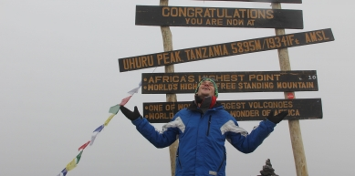 A picture from Kilimanjaro / Uhuru/Kibo Peak by Basti We