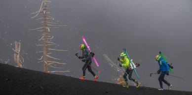 A picture from Etna Volcano by Dynafit