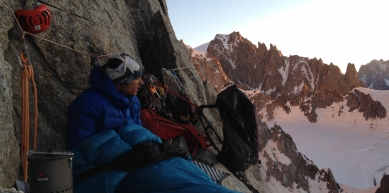 A picture from Mont Blanc massif by MSR / Mountain Safety Research