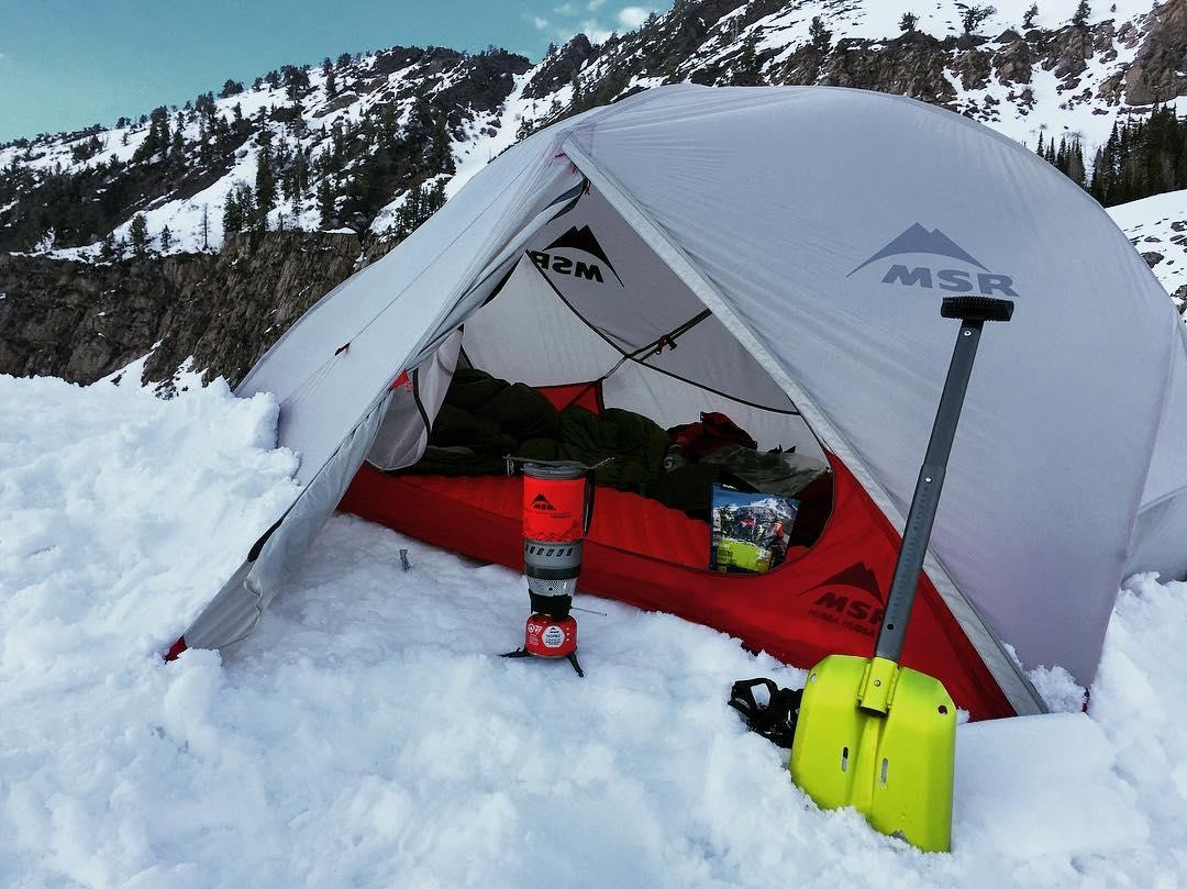 A picture from Big Cottonwood Canyon by MSR / Mountain Safety Research