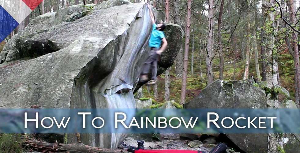 How To Rainbow Rocket - The hardest dyno I've ever done (8a/V11) in Fontainebleau