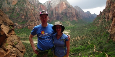A picture from Zion National Park by Anna Szlavi