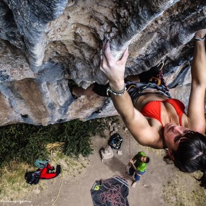 Climbing Woman strong by Ivan Guerrero