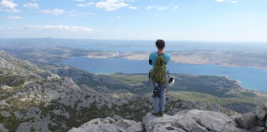 A picture from Anića kuk, Paklenica by Alice Donini