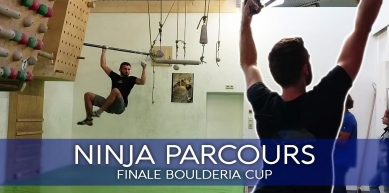 NINJA PARCOURS   Final course at the Boulderia Summer-Cup
