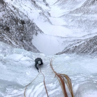Freedom for the nations Icefall by Lluis Molins