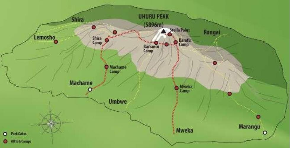 Kilimanjaro trekking tips in Machame route