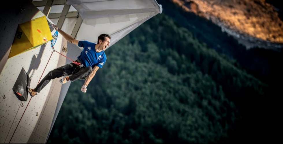 INTERVIEW WITH A WORLDWIDE CHAMPION in Iloveclimbing office
