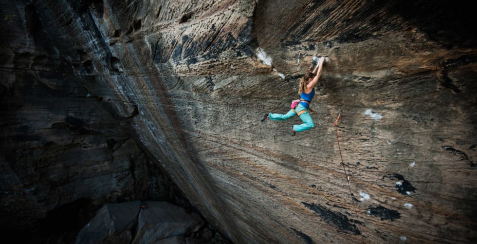 MICHAELA KIERSCH AND ONE OF AMERICA'S HARDEST ROUTES in Iloveclimbing office