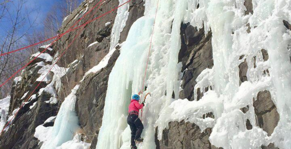 Lake Placid Ice Climbing in Adirondack Mountains